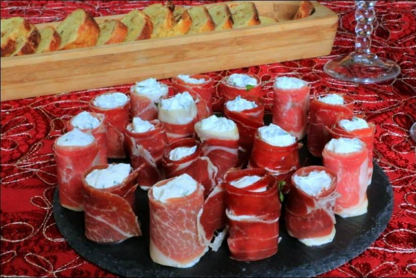 bouchées apéritives jambon fromage