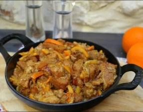Mijoté de veau aux oranges confites