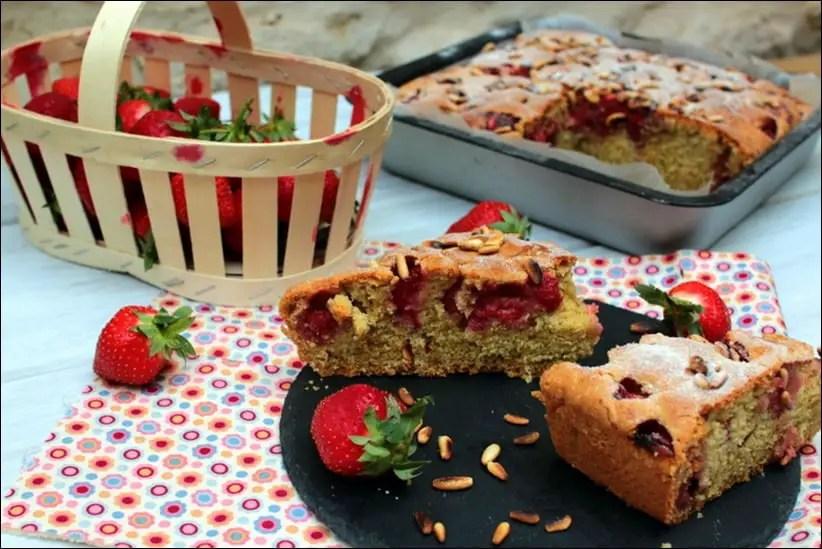 moelleux fraises pignons