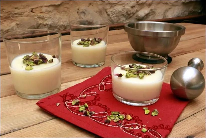 mouhalabieh, crème de riz libanaise