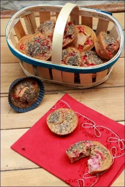 muffins aux fraises santé healthy