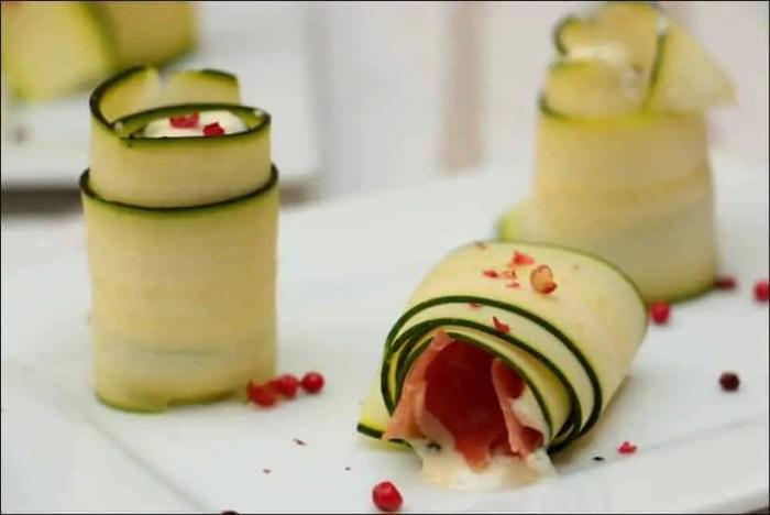 roulés courgettes jambon