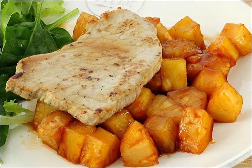 recette veau aux ananas