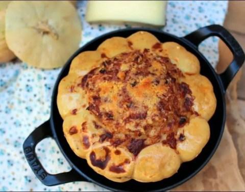 pâtisson farci aux pommes de terre bacon et chèvre