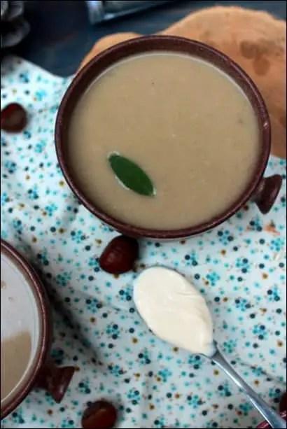 soupe chataigne creme fraiche