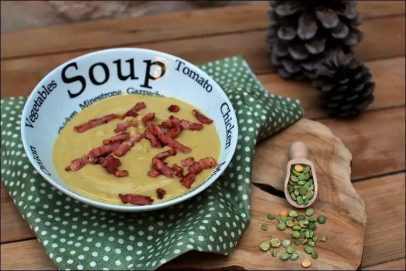 soupe pois cassés lardons