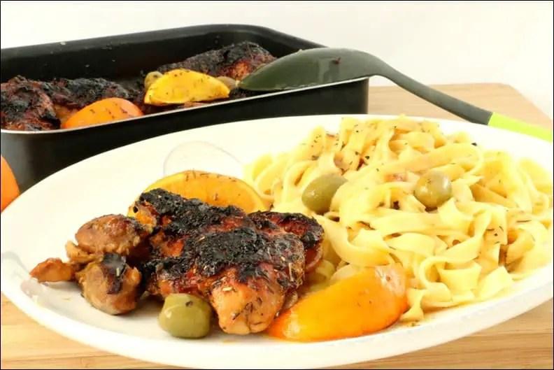 poulet rôti à l'orange et à la cannelle