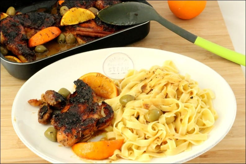 poulet roti orange