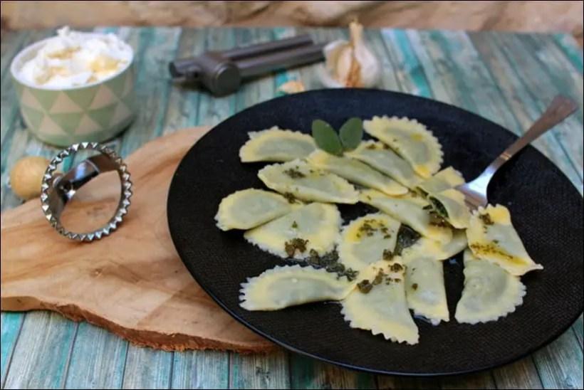 ravioli épinard fromage beurre de sauge