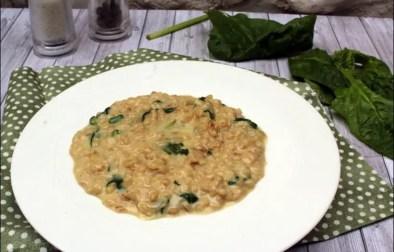 risotto d'orge perlé épinards frais et tomme de Savoie