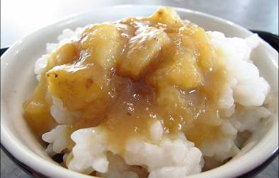 riz au lait de coco et bananes