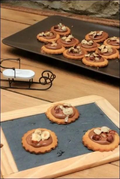 biscuits sablés praliné
