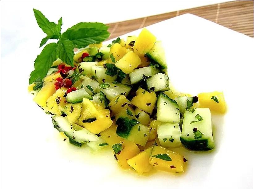 salade concombre libanaise
