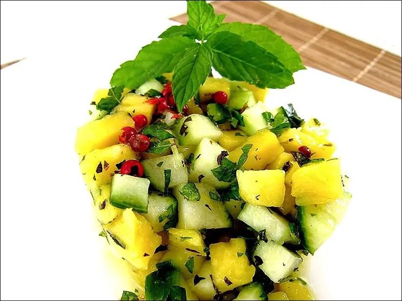 salade mangue concombre