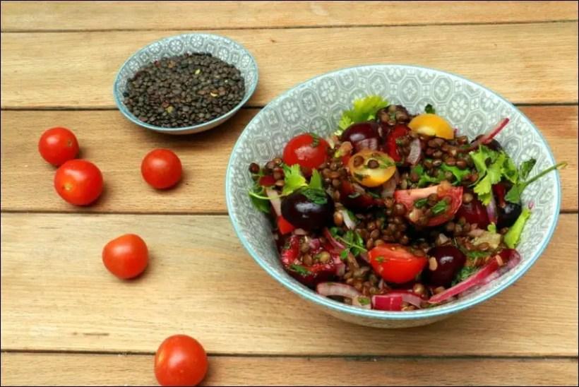salade lentilles dietetique