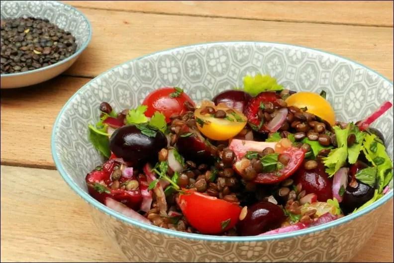 salade lentilles vertes