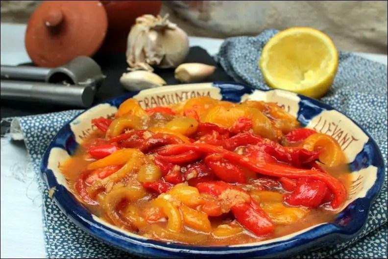 salade pied-noir de poivrons grillés