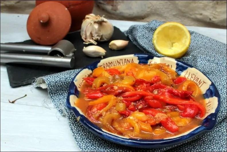 salade poivrons huile d'olive