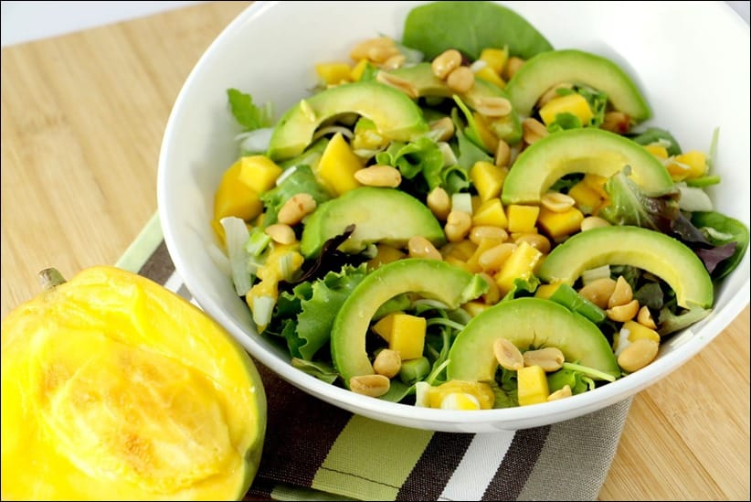 salade mangue et avocat thai