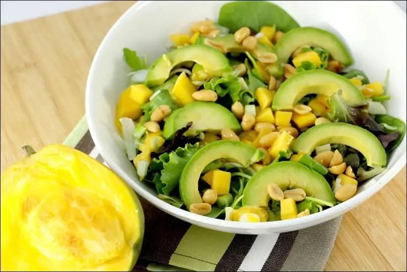 salade mangue et avocat thai