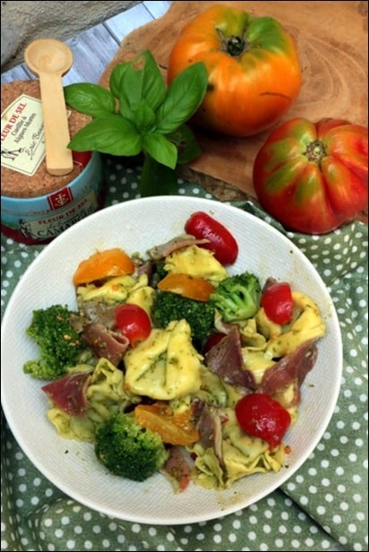 salade tortellini pesto