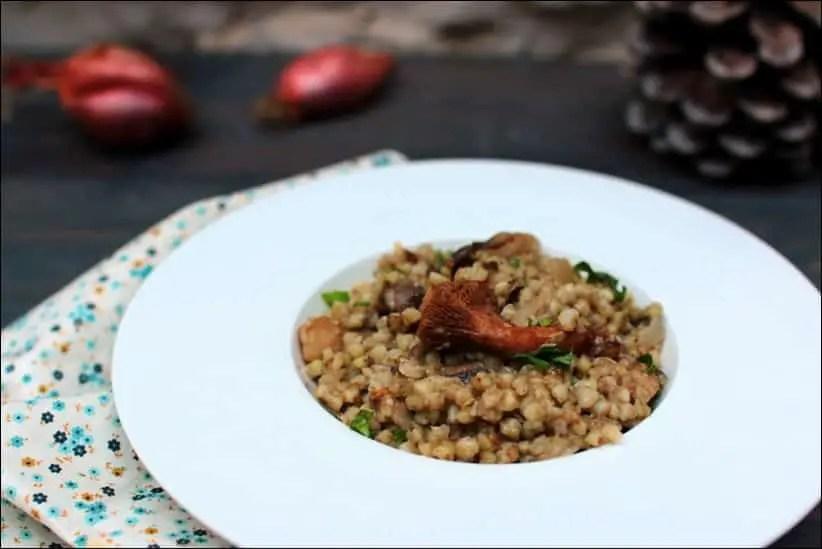 risotto de sarrasin aux champignons