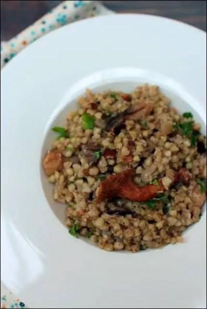 risotto sarrasin champignons