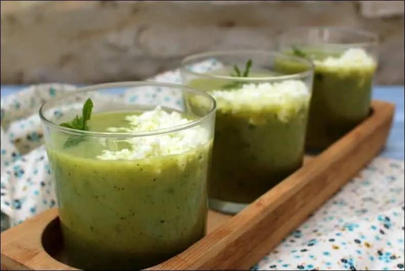 soupe froide de courgette et feta