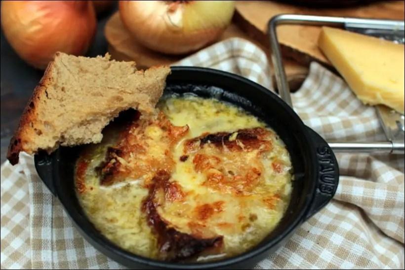 soupe oignon gratinée au four
