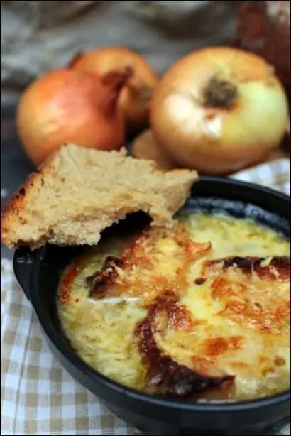 soupe oignons gratinee
