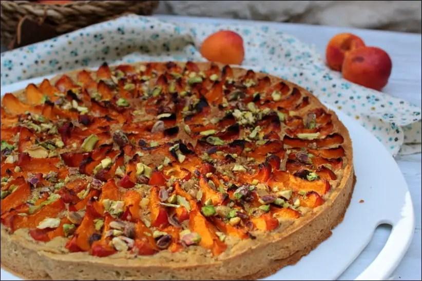 tarte amandine pistaches et abricots