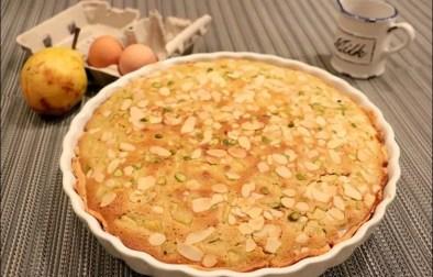 tarte amandine poire et pistaches de Christophe Michalak
