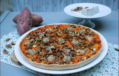 tarte aux patates douces noix et gorgonzola