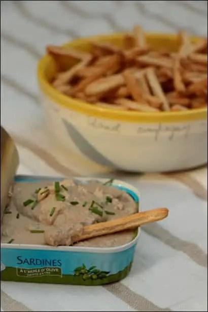 rillettes de sardines en boite