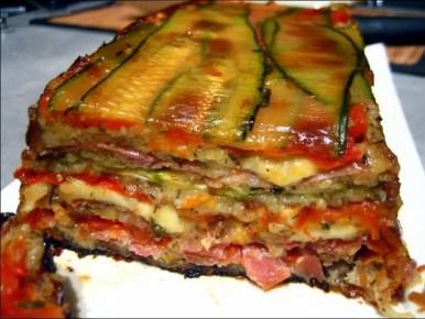terrine de courgettes jambon et mozzarella