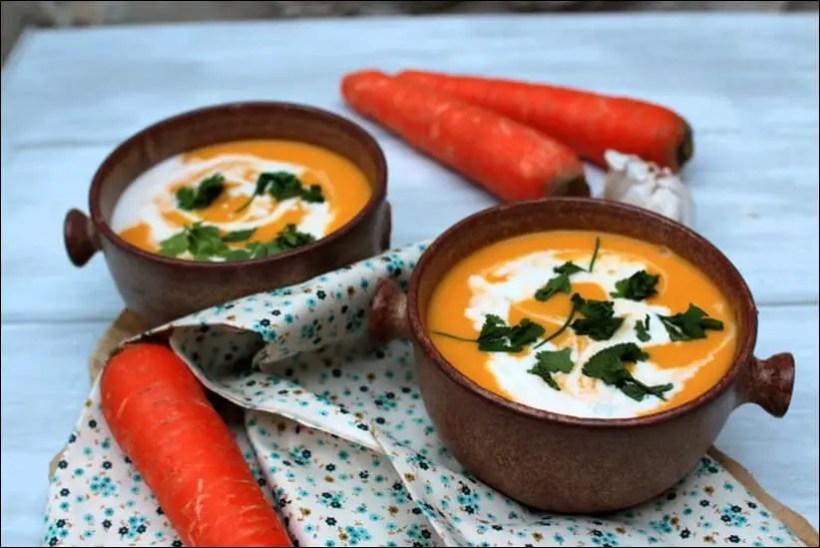 soupe carotte coco gingembre