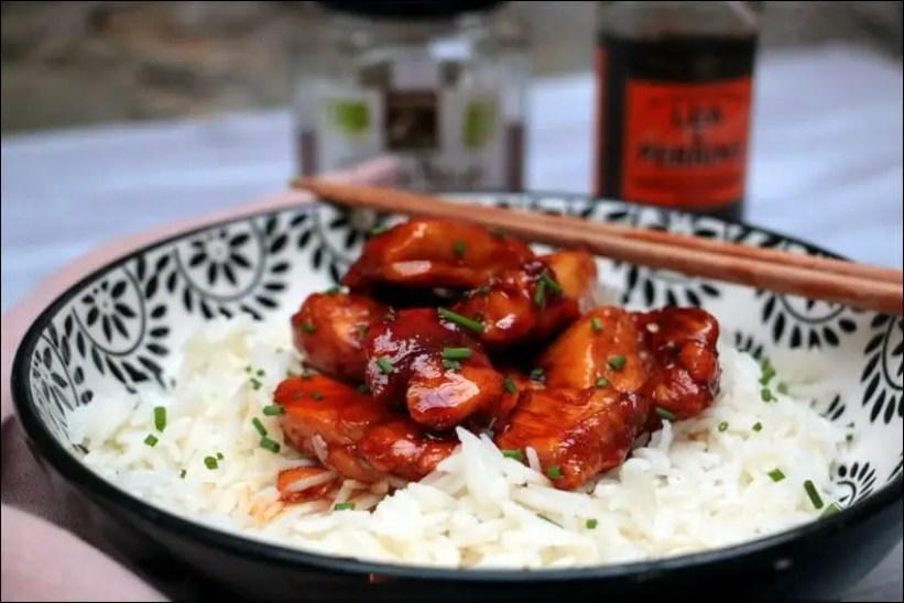 wok de poulet caramélisé au miel
