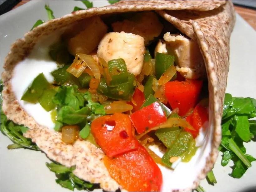 Wraps de poulet à la mexicaine