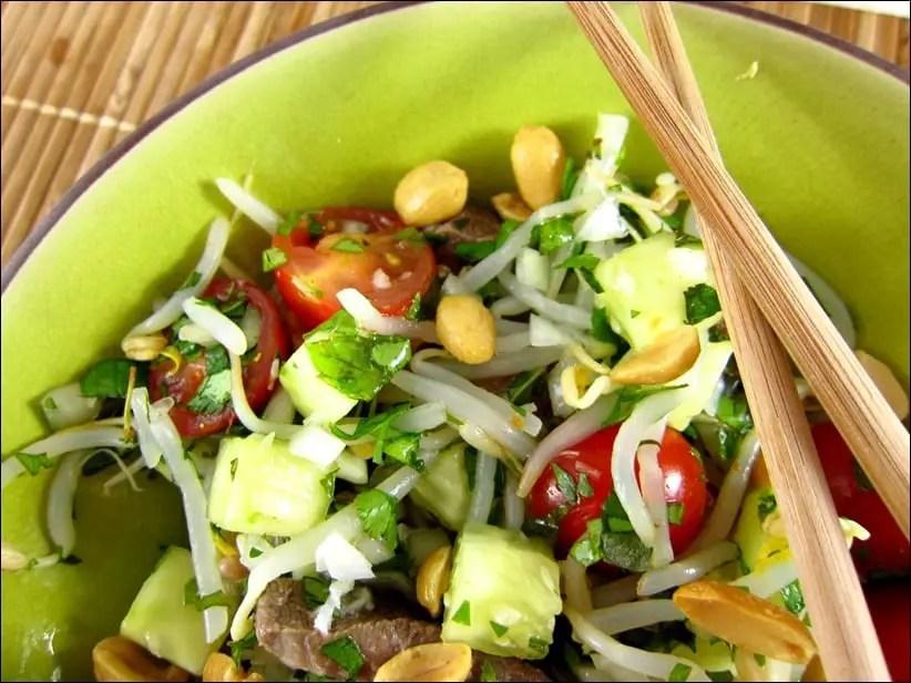 salade de boeuf thai yam nua