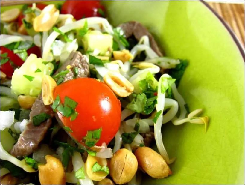 salade boeuf thai concombre