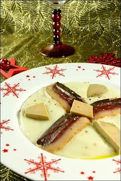 velouté topinambour et foie gras