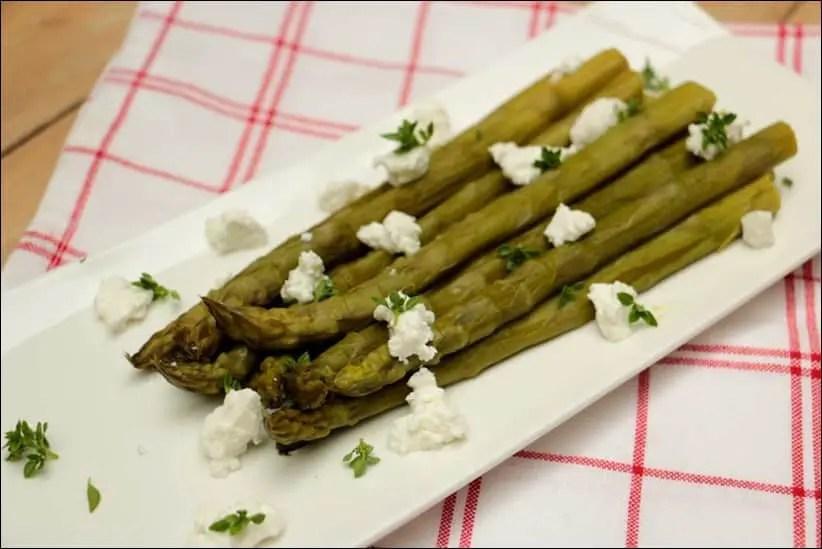 asperges vertes chevre frais