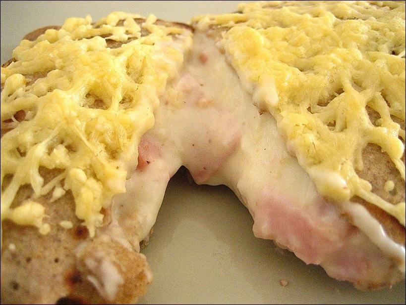 crepe jambon fromage maison