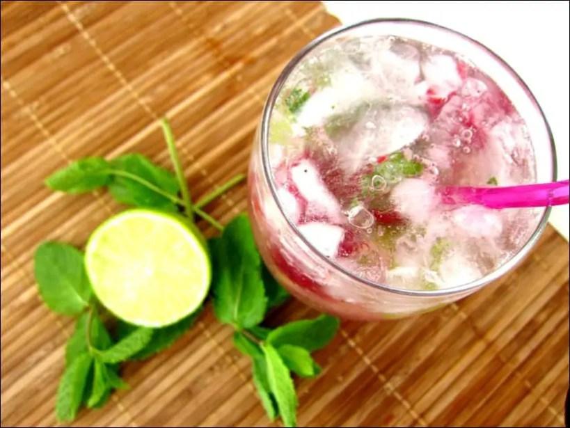 mojito framboise avec alcool