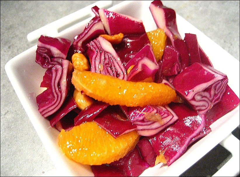 salade de chou rouge à l'orange
