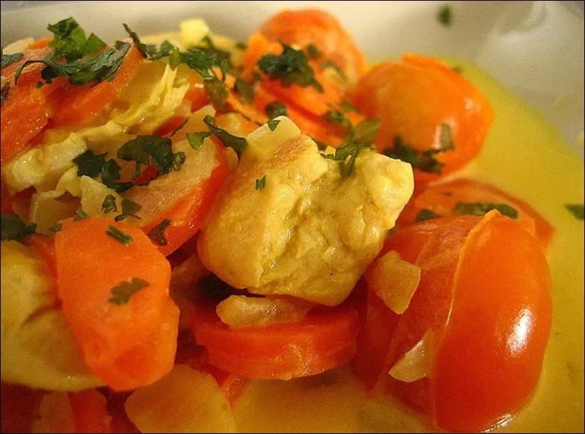 poulet curry thai lait de coco