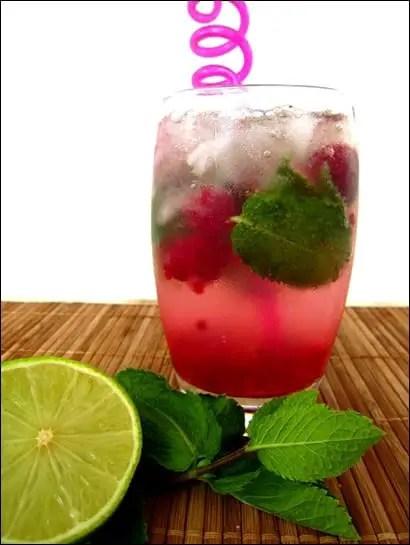 mojito cocktail framboise
