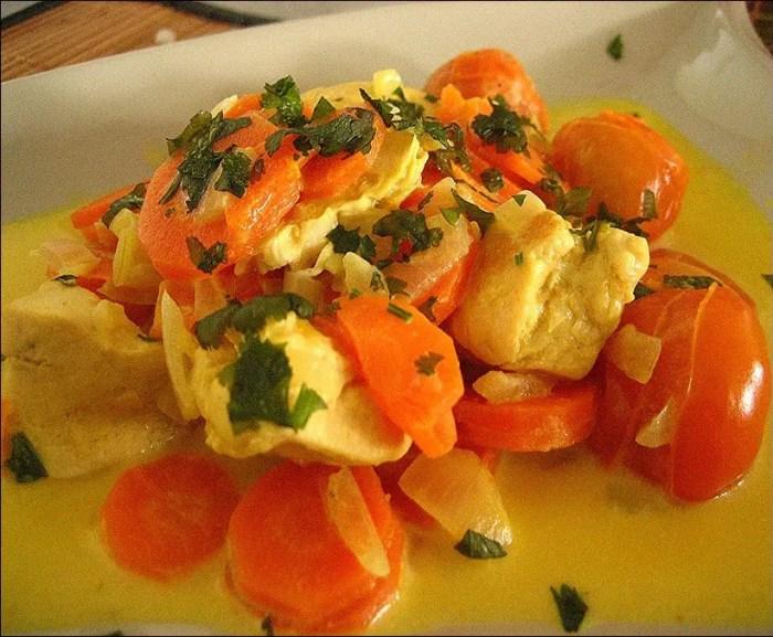 recette poulet curry coco thailandais