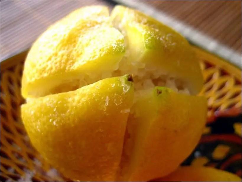citron confit recette