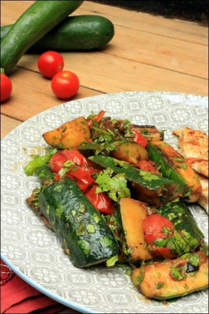 poelee courgette tomate
